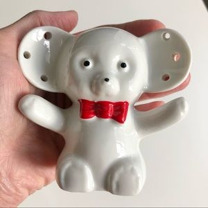 Vintage ceramic bear earring holder